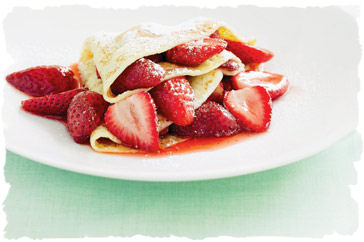 Roasted Strawberry Crepe